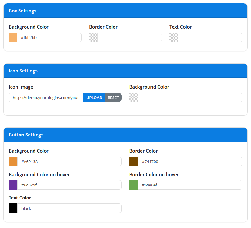 Cart Notices Template Settings